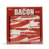 Bacon Faux Leather Wallet