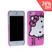 Hello Kitty w/ Black Gems on Baby Pink Hard Case for Apple iPhone 5
