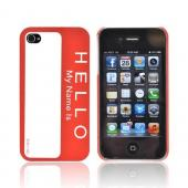 DCI® iPhone 4/4S Case | Hello Name Tag Flash Rubberized Hard Case