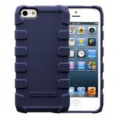 OEM Body Glove Apple iPhone 5 Drop Suit Crystal Silicone Case w/ Textured Lines, CRC93071 - Nave Blue