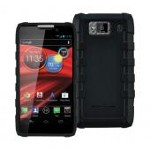 Body Glove Black Drop Suit Series Crystal Silicone Case w/ Textured Lines for Motorola Droid RAZR HD
