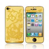 OEM Luardi Apple iPhone 4/4S 24 KT Yellow Gold Plated Metallic Protective Skin - Vines