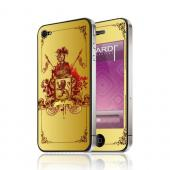 OEM Luardi Apple iPhone 4/4S Reusable Protective Skin - Royal Crest on Gold