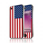 OEM Luardi Apple iPhone 4/4S Reusable Protective Skin - American USA Flag