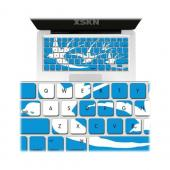 OEM XSKN Universal Apple MacBook Silicone Keyboard Cover - Blue/ White Swallow