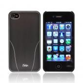 OEM iSkin Aura Apple iPhone 4/4S Ultra Slim Hard Case w/ Aluminum Back &amp; Screen Protector - Gray/ Silver