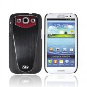 OEM iSkin Aura Samsung Galaxy S3 Ultra Slim Hybrid Hard Case w/ Aluminum Back & Screen Protector, ARSSG3-RD3 - Red/ Black