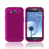 OEM Ballistic Samsung Galaxy S3 SG Hard Case on Silicone, SG0930-M065 - Hot Pink/ Maroon