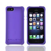 OEM Ballistic Apple iPhone 5 Lifestyle Smooth Gel Skin Case w/ Interchangeable Corner Bumpers, LS0955-M985 - Purple