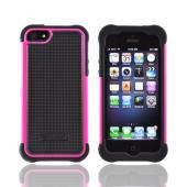 OEM Ballistic Apple iPhone 5/5S SG Hard Case on Silicone  SG0926-M365 - Black/ Hot Pink