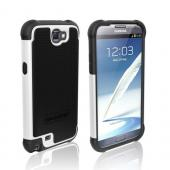 Ballistic Black/ White Shell Gel Series Back Cover Over Silicone Case for Samsung Galaxy Note 2
