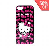 Officially Licensed Sanrio Apple iPhone 5/5S Hard Back Cover  KT4489PBB - Hello Kitty w/ Hot Pink Bows