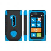 OEM Trident Aegis Nokia Lumia 900 Hard Case Over Silicone w/ Screen Protector - Blue/ Black