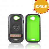 OEM Trident Kraken AMS HTC One S Hard Case Over Silicone w/ Screen Protector, Kickstand, & Belt Clip - Green/ Black