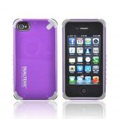 OEM PureGear Apple iPhone 4/4S DualTek Extreme Shock Hybrid Hard Case w/ Screen Protector - Purple/ Gray