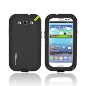 OEM PureGear Samsung Galaxy S3 PX260 Rubberized Hard Impact Case w/ Utility Tool & Screen Protector - Black/ Lime Green