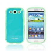 OEM PureGear Samsung Galaxy S3 Slim Shell Hybrid Hard Case, 02-001-01768 - Turquoise/ Seafoam Green