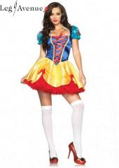 LegAvenue Costume Fairy Tale Snow White Dress w, Matching Headband 83616