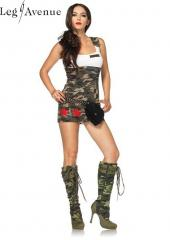 LegAvenue Costume Combat Cutie Tank Dress w, Star Appliqus &amp; Badge Detail 83775
