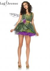 3PC LegAvenue Costume Woodland Fairy Dress w, Waist Sash &amp; Flower Appliqu Accent &amp; Matching Hair Clip 83868