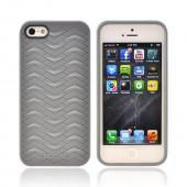OEM Odoyo Shark Skin Collection Apple iPhone 5 Anti-Slip Hard Case w/ Screen Protector - Gray