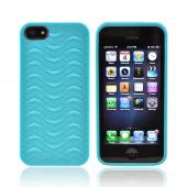 OEM Odoyo Shark Skin Collection Apple iPhone 5 Anti-Slip Hard Case w/ Screen Protector - Teal