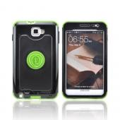 OEM Trident Cyclops Samsung Galaxy Note Hard Cover Case w/ Built-In Screen Protector - Green/ Black