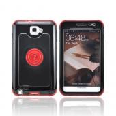 OEM Trident Cyclops Samsung Galaxy Note Hard Cover Case w/ Built-In Screen Protector - Red/ Black