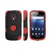 OEM Trident Aegis Samsung Exhilarate i577 Hard Case Over Silicone w/ Screen Protector - Red/ Black
