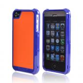 OEM Trident Apollo Apple iPhone 4/4S Hard Case w/ Interchangeable Plates & Screen Protector - Navy/ Orange