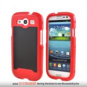 OEM Trident Apollo Samsung Galaxy S3 Hard Case w/ Interchangeable Plates & Screen Protector - Red/ Black