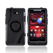 OEM Trident Aegis Motorola Droid RAZR M Hard Case Over Silicone w/ Screen Protector - Black
