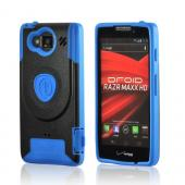 Blue/ Black Trident Aegis Hard Cover Over Silicone Case w/Screen Protector for Motorola Droid RAZR MAXX HD