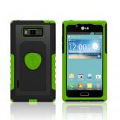 Trident Green/ Black Aegis Series Hard Cover on Silicone Case w/ Screen Protector for LG Splendor