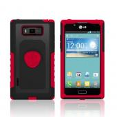 Trident Red/ Black Aegis Series Hard Cover on Silicone Case w/ Screen Protector for LG Splendor