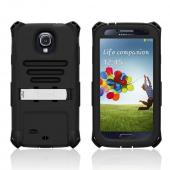 Trident Black Kraken AMS Series Hard Case Over Silicone w/ Screen Protector, Kickstand, & Belt-Clip for Samsung Galaxy S4