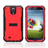 Trident Red/ Black Cyclops Series Thermo Poly Elastomer (Super TOUGH) Hard Case w/ Built-In Screen Protector for Samsung Galaxy S4