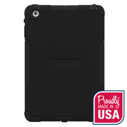 Trident Aegis iPad Mini 2 Case | [Black] Aegis Series Slim & Rugged Hard Cover over Silicone Skin Dual Layer Hybrid Case w/ Screen Protector for Apple iPad Mini 2 | Great Alternative to Otterbox!