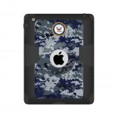 Trident U.S. Navy iPad 4 Case | [Blue Digital Camo] Kraken AMS U.S. Navy Series Rugged Protective Polycarbonate on Silicone Dual Layer Hybrid Case w/ Built-in Screen Protector for Apple iPad 4 | U.S. Navy Licensed!