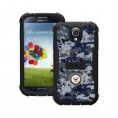 Trident U.S. Navy Galaxy S4 Case | [Blue Digital Camo] Cyclops U.S. Navy Series Rugged Fused Polycarbonate & Thermo Poly Elastomer (Super TOUGH!!) Hybrid Case w/ Built-in Screen Protector for Samsung Galaxy S4 | U.S. Navy Licensed!