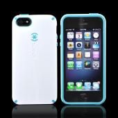 OEM Speck CandyShell Apple iPhone 5 Hard Case, SPK-A0478 - White/ Turquoise