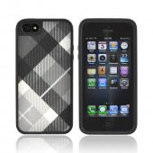 OEM Speck FabShell Apple iPhone 5 Hard Shell & Fabric Case, SPK-A0723 - MegaPlaid Black/ Gray