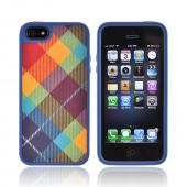 OEM Speck FabShell Apple iPhone 5 Hard Shell & Fabric Case, SPK-A0760 - MegaPlaid Spectrum
