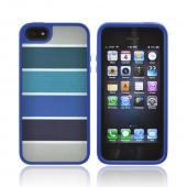 OEM Speck FabShell Apple iPhone 5/5S Hard Shell & Fabric Case  SPK-A0761 - ColorBar Arctic Blues
