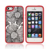 OEM Speck FabShell Apple iPhone 5 Hard Shell &amp; Fabric Case, SPK-A0764 - FreshBloom Coral Pink/ Black