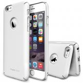 "Solid White Apple iPhone 6 (4.7"") SLIM Series Premium Dual Coated Hard Cover Case w/ Logo Cut out"
