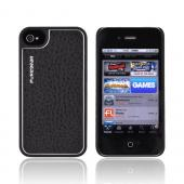 Original PureGear AT&T/ Verizon Apple iPhone 4/4S Leather Snap on Shell Case, 88243VRP - Black