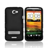 Seidio HTC One X Active Rubberized Hard Cover Over Silicone w/ Kickstand - Black