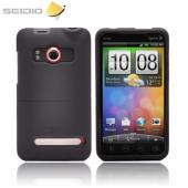 Seidio Surface HTC EVO 4G LTE Rubberized Slip On Hard Case w/ Holster & Belt Clip - Black