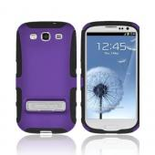OEM Seidio Samsung Galaxy S3 Active Hard Cover Over Silicone w/ Metal Kickstand - Purple/ Black